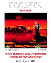 Review Of Having A Good Cry: Effeminate Feelings And Pop-Culture Forms, Femspec Issue 6.2