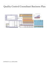 Quality Control Consultant Business Plan