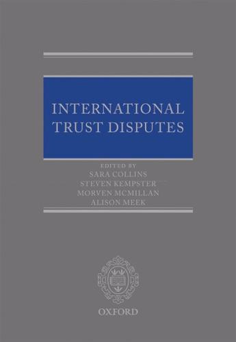 Sara Collins, Steven Kempster, Morven McMillan & Alison Meek - International Trust Disputes