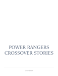 Power Rangers crossover stories