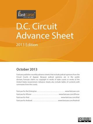 D.C. Circuit Advance Sheet October 2013