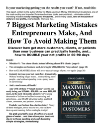 7 Biggest Marketing Mistakes Entrepreneurs Make