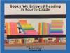 Books We Enjoyed Reading In Fourth Grade