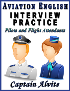 Aviation English Interview Practice: Pilots and Flight Attendants Book Cover
