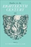Studies In The Eighteenth Century III