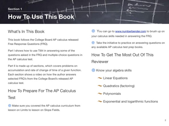 AP Calculus FRQ Reviewer on Apple Books