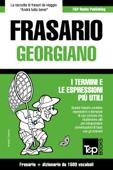 Frasario Italiano-Georgiano e dizionario ridotto da 1500 vocaboli Book Cover