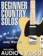 Beginner Country Guitar Solos with Audio & Video