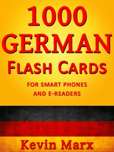 1000 German Flash Cards Book Cover