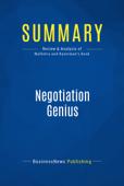 Summary: Negotiation Genius
