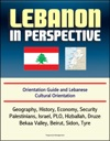 Lebanon In Perspective Orientation Guide And Lebanese Cultural Orientation Geography History Economy Security Palestinians Israel PLO Hizballah Druze Bekaa Valley Beirut Sidon Tyre