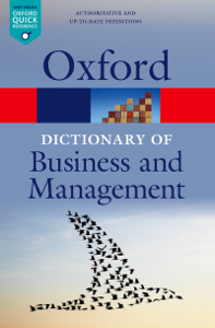 A Dictionary of Business and Management Copertina del libro