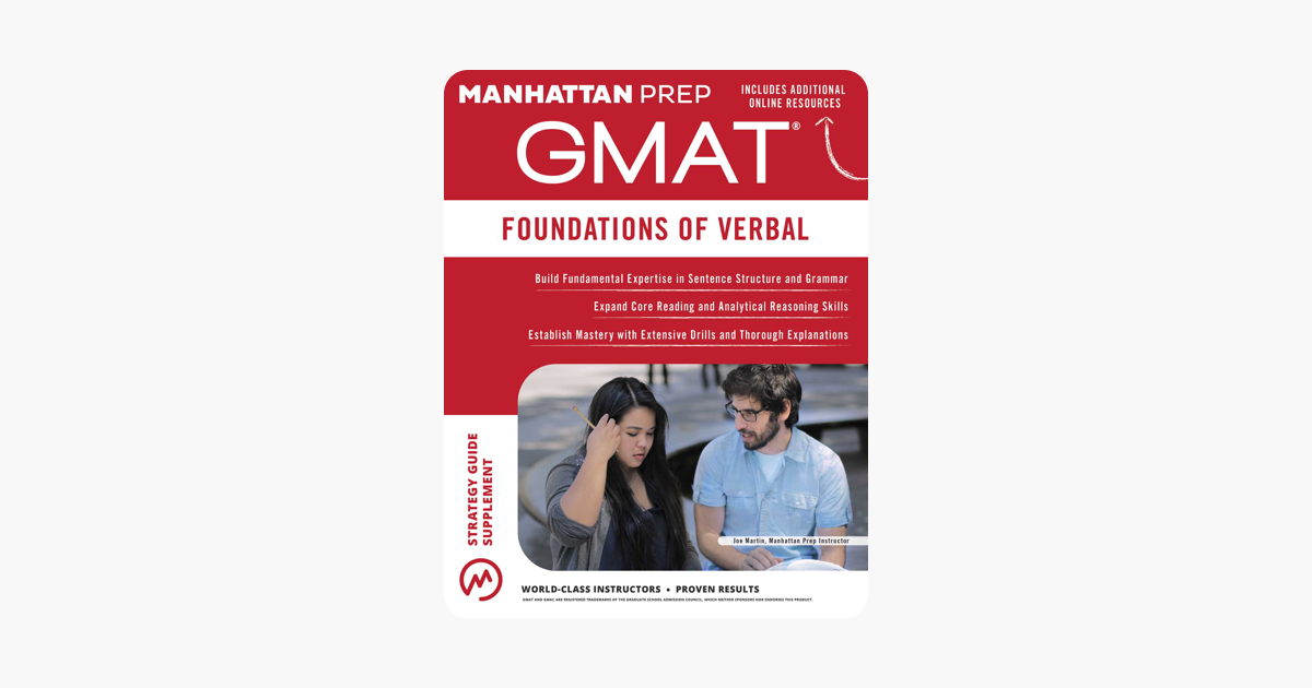 u200egmat foundations of verbal sur apple books