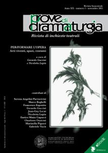 Prove di Drammaturgia n. 1/2015 Libro Cover