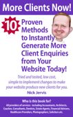 More Clients Now! 10 Proven Methods To Instantly Generate More Enquiries From Your Website Today