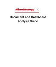 Document Analysis Guide For For Microstrategy 10 By Microstrategy