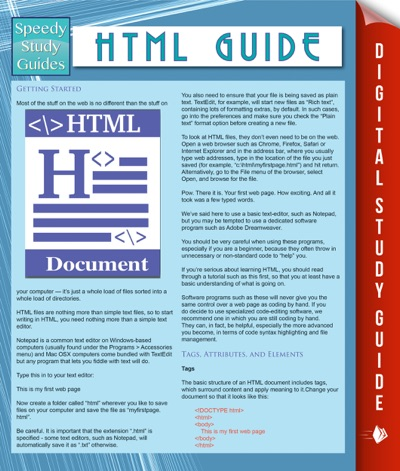 HTML Guide Speedy Study Guides