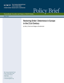 Restoring Order: Deterrence in Europe in the 21st Century