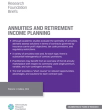 Annuities And Retirement Income Planning