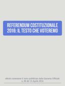 Referendum costituzionale 2016: il testo che voteremo