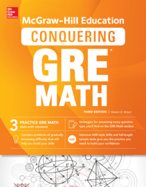 McGraw-Hill Education Conquering GRE Math, Third Edition book