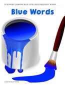 Blue High Frequency Words
