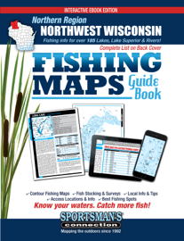 Northwest Wisconsin Northern Region Fishing Maps Guide Book