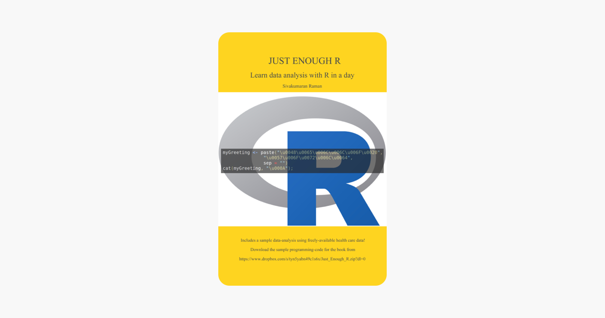 Just Enough R: Learn Data Analysis with R in a Day on Apple