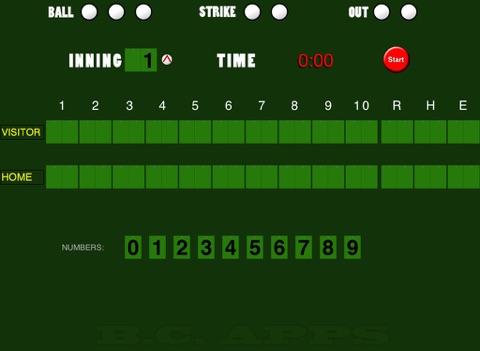Baseball/Softball Scoreboard screenshot 1