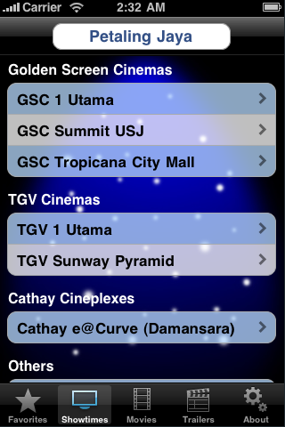 Screenshot #1 pour CineApps Malaysia