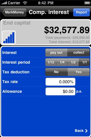 Compound Interest Calculator ✭ powered by MarkMoney ✭ screenshot-2