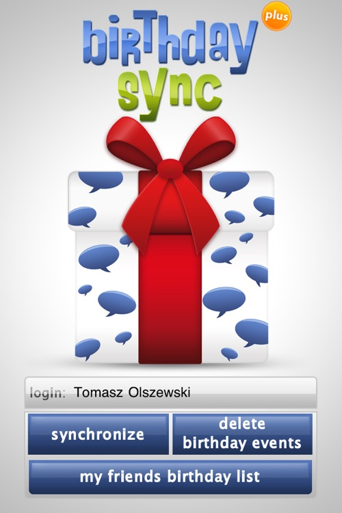 Birthday sync PLUS for Facebook