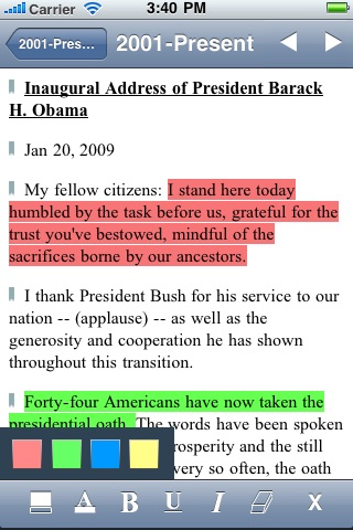 US Historical Documents & Speeches screenshot-0