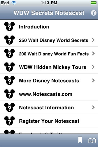 Walt Disney World Secrets Notescast screenshot-0