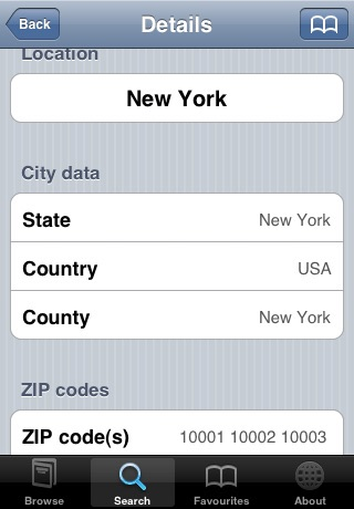 ZIPcodes screenshot-3