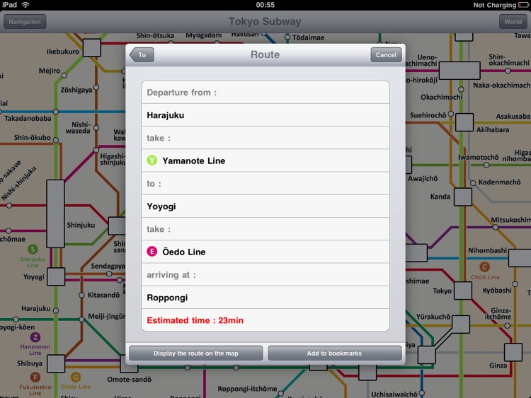 Tokyo Subway for iPad screenshot-2