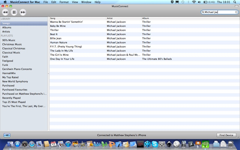 MusicConnect Screenshot