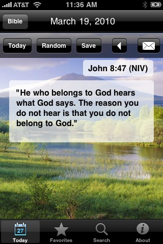 My Daily Bread (Bible Verse: NAB, KJV, NIV, Christian)