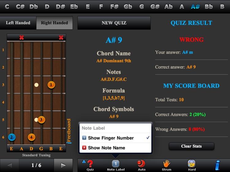 Guitar Chords, Triads & Quiz screenshot-4