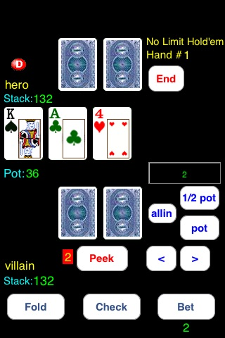 Headsup Poker 3G Free (Holdem Blackjack Omaha) screenshot-3
