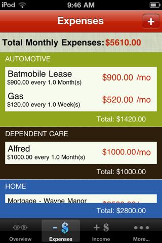 Budgeteer screenshot 2