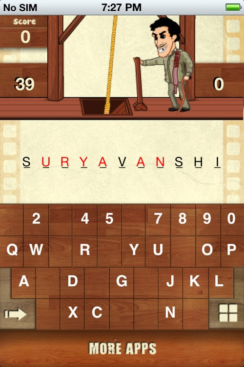 Hangman Bollywood For iPhone screenshot-4