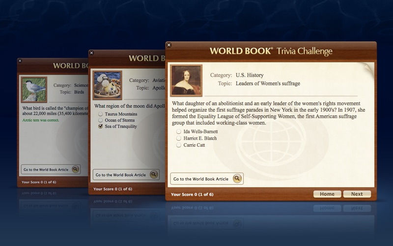 World Book Trivia Challenge Screenshot