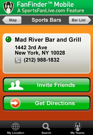 FanFinder - Sports Bar Locator screenshot-3