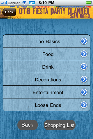 On The Border Fiesta Party Planner screenshot 2