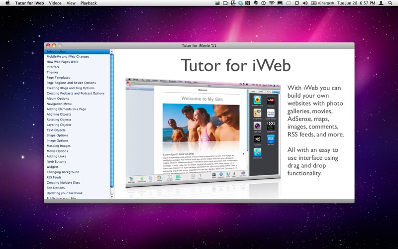 Tutor for iWeb Screenshot