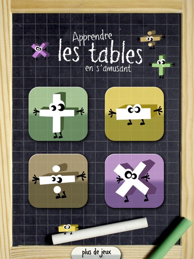 Apprendre les tables en s 39 amusant sur ipad dans l app store - Tables de multiplication en s amusant ...