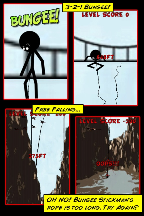 Bungee Stickmen+ screenshot-1