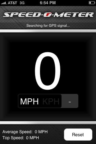 Speedometer screenshot one