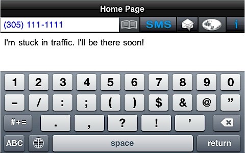 SMS Big Keyboard Deluxe screenshot-0